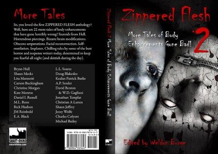 Cover for ZIPPERED FLESH 2, expected February 2012.