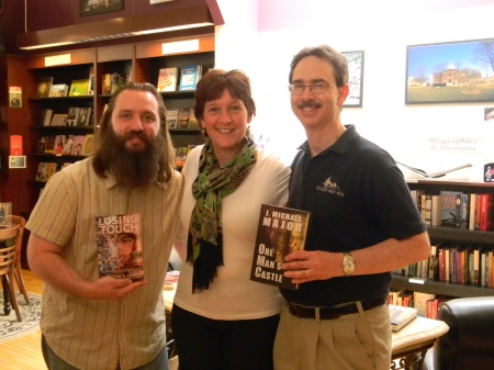 Me, Arlene Lynes, and J. Michael Major at Read Between the Lynes.