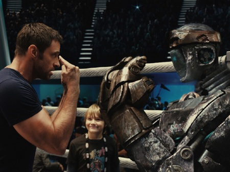 REAL STEEL (2011), starring Hugh Jackman.