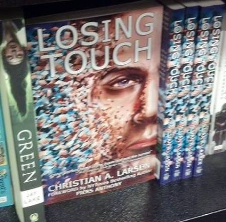 LOSING TOUCH, on the shelf at the Racine Barnes & Noble.