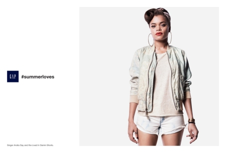 Andra Day featured in Gap's #summertime campaign
