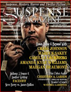 The August cover of SUSPENSE MAGAZINE.