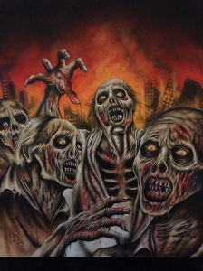 ZOMBIES GALORE cover art by Stephen Cooney.