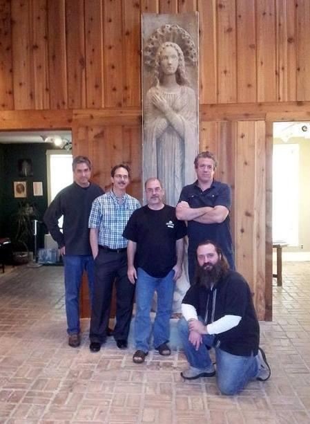 Pinkerton, Major, Everson, Thomas and me (sitting).