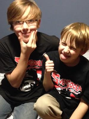 The kids love their new Svengoolie shirts.
