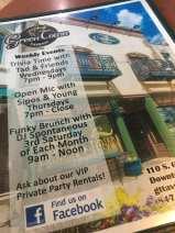 Green Town menu. Dare to look inside!